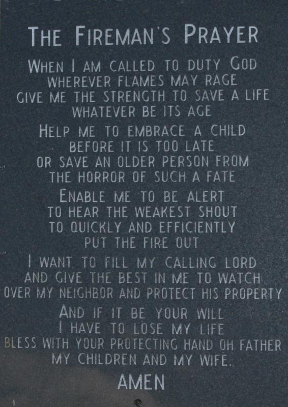 A Firemans Prayer